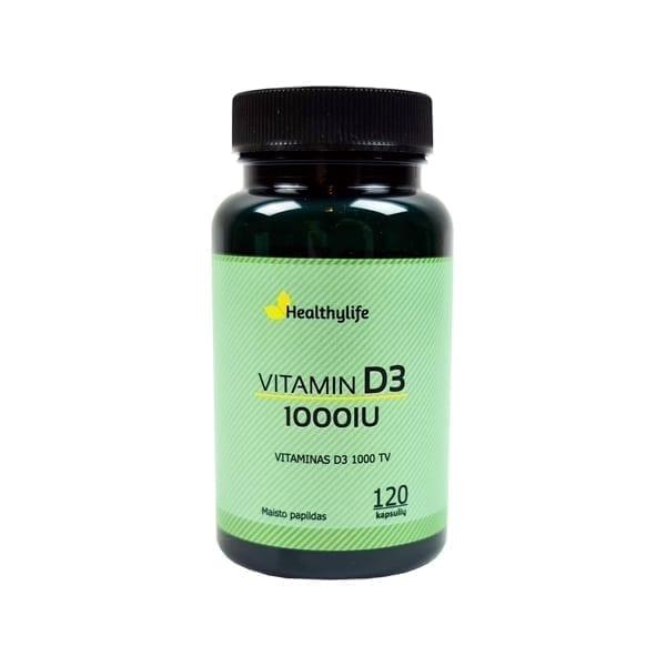 Natūralus vitaminas D3 1000TV