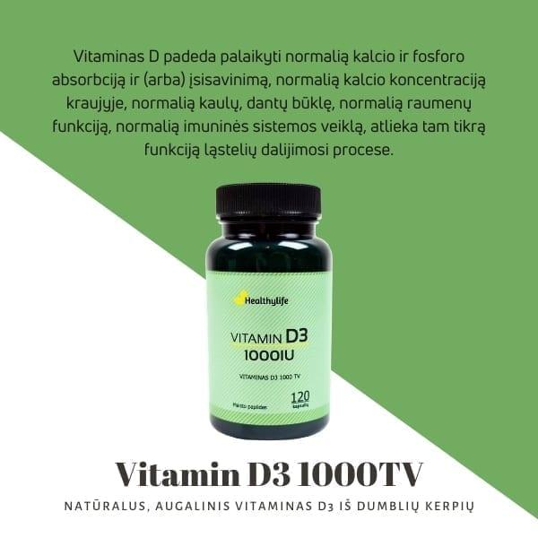 Vitamin D3 1000TV 2